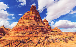 Coyote Buttes. Of the Vermillion Cliffs Wilderness Area, Utah and Arizona Stock Images