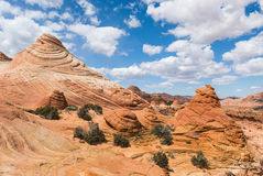 Coyote Buttes. Vivid sandstone formation in Coyote Buttes North. These formations could be seen in Paria Canyon-Vermilion Cliffs Wilderness between the towns of Stock Photo