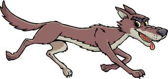 Coyote dans le dépassement illustration libre de droits