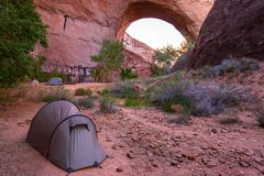 Coyote Gulch Camping Royalty Free Stock Image