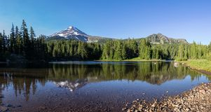 Coyote Lake. Is at 5800 feet elevation along the Pacific Crest Trail, Mount Jefferson Wilderness Area, Oregon Stock Image
