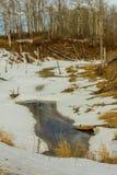 Coyote Lake, Coyote Lakes Natural Area, Alberta, Canada stock photo