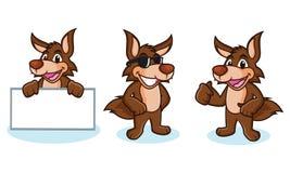 Coyote Mascot Vector happy Royalty Free Stock Photo