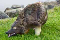 Coyote model bird scarer Royalty Free Stock Image