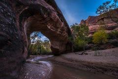 Coyote Natural Bridge Escalante Utah USA Fall Colors Stock Image