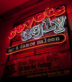 Coyote Ugly Neon Sign - Las Vegas. Nevada, USA Royalty Free Stock Photos