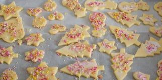 Coza cookies do Natal para a estação do Natal na padaria fotos de stock