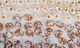 Coza cookies do Natal para a estação do Natal na padaria fotos de stock royalty free