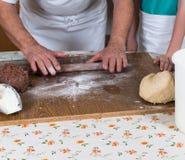 Coza cookies do Natal para a estação do Natal na padaria imagens de stock royalty free