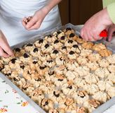 Coza cookies do Natal para a estação do Natal na padaria fotografia de stock royalty free