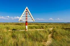 Coza na praia de Ellenbogen, Sylt Fotos de Stock Royalty Free
