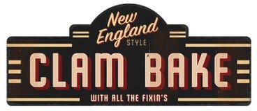 Coza o Grunge antigo velho retro Nova Inglaterra do vintage do sinal ilustração stock