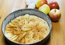 Cozendo uma torta de maçã Fotos de Stock Royalty Free