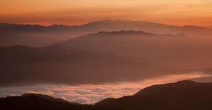 Cozia山,罗马尼亚 库存图片