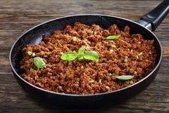 Cozido de carne picada com molho de tomate Imagem de Stock Royalty Free