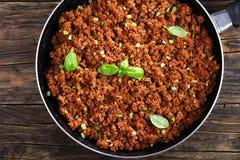 Cozido de carne redondo com molho de tomate Imagens de Stock