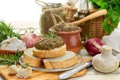 Cozido, dietético, caviar do cogumelo Imagens de Stock