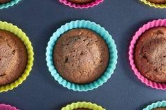 Cozido nos queques do forno Imagem de Stock Royalty Free