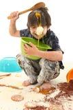 Cozimento da criança Fotos de Stock Royalty Free