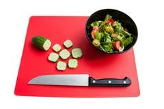 Cozimento da salada dos legumes frescos Fotografia de Stock Royalty Free