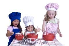 Cozimento das crianças Fotografia de Stock Royalty Free