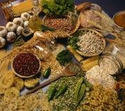 Cozimento do italiano - ingredientes fotografia de stock