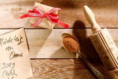 Cozimento e receita do Natal fotografia de stock