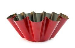 Cozimento vermelho do bolo do metal da bandeja Imagem de Stock