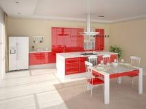 Cozinha acolhedor brilhante Ilustração Stock