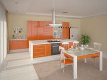 Cozinha acolhedor confortável Ilustração Stock