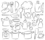 Cozinha alegre Fotos de Stock Royalty Free