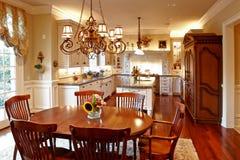 Cozinha americana luxuosa Fotografia de Stock