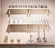 Cozinha antiquado Imagens de Stock Royalty Free