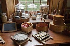 Cozinha antiquado do país Imagens de Stock Royalty Free