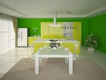 Cozinha ao estilo da olá!-tecnologia Ilustração Stock