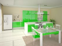 Cozinha ao estilo do minimalismo Ilustração do Vetor