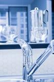 Cozinha azul Imagens de Stock Royalty Free