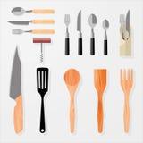 Cozinha, barra, elementos do projeto do restaurante Imagem de Stock
