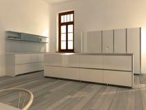Cozinha branca moderna ilustração do vetor
