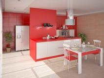 Cozinha brilhante interior Ilustração Royalty Free
