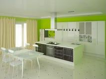 Cozinha brilhante moderna Fotos de Stock