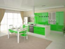 Cozinha brilhante moderna Ilustração Royalty Free
