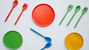 Cozinha colorida Fotografia de Stock Royalty Free