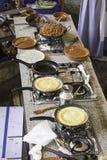Cozinha com omeletas Imagem de Stock