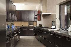 Cozinha comercial vazia Imagem de Stock Royalty Free