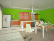 Cozinha confortável moderna Ilustração do Vetor