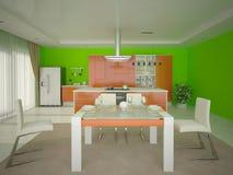 Cozinha confortável moderna de Interer Ilustração Royalty Free