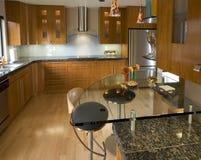 Cozinha contemporânea moderna Imagens de Stock