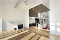 Cozinha contemporânea no condomínio Fotografia de Stock