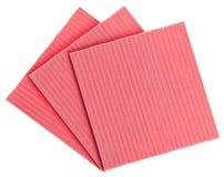 Cozinha cor-de-rosa da celulose (tecido) fotografia de stock
